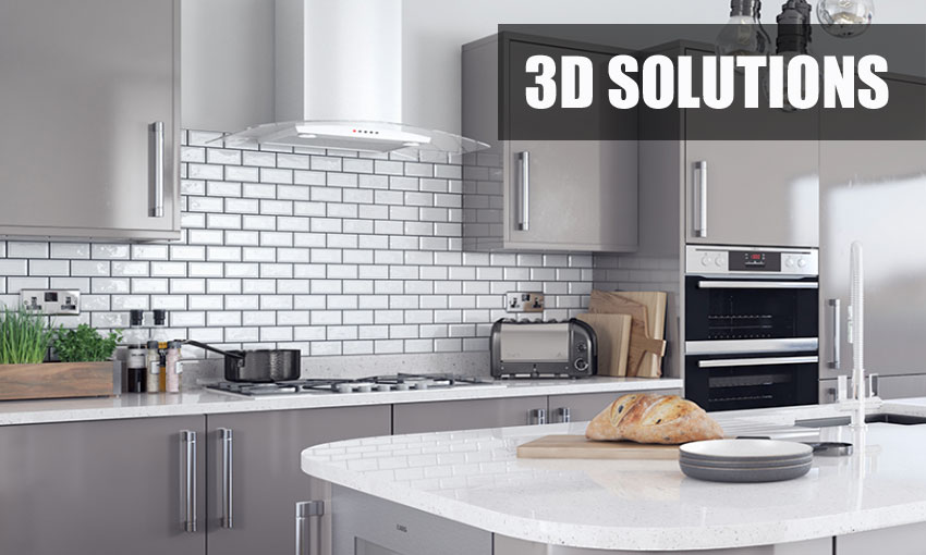 Supply only 3D Solutions kitchens